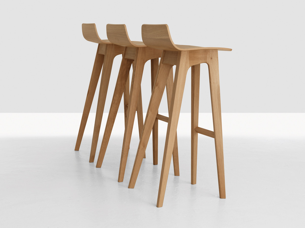 Oak Bar Stools ~ Buy the zeitraum morph bar stool at nest