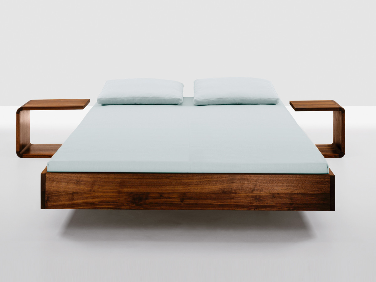 Buy the zeitraum simple bed at for American walnut bedroom furniture uk