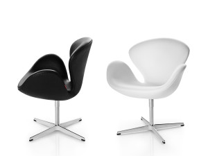 Fritz Hansen Swan Lounge Chair - Leather