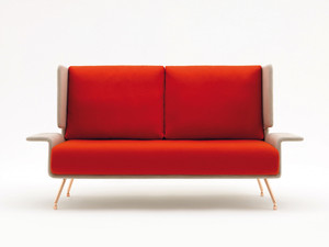 Knoll A&A Two-Seat Sofa with high back and big wings