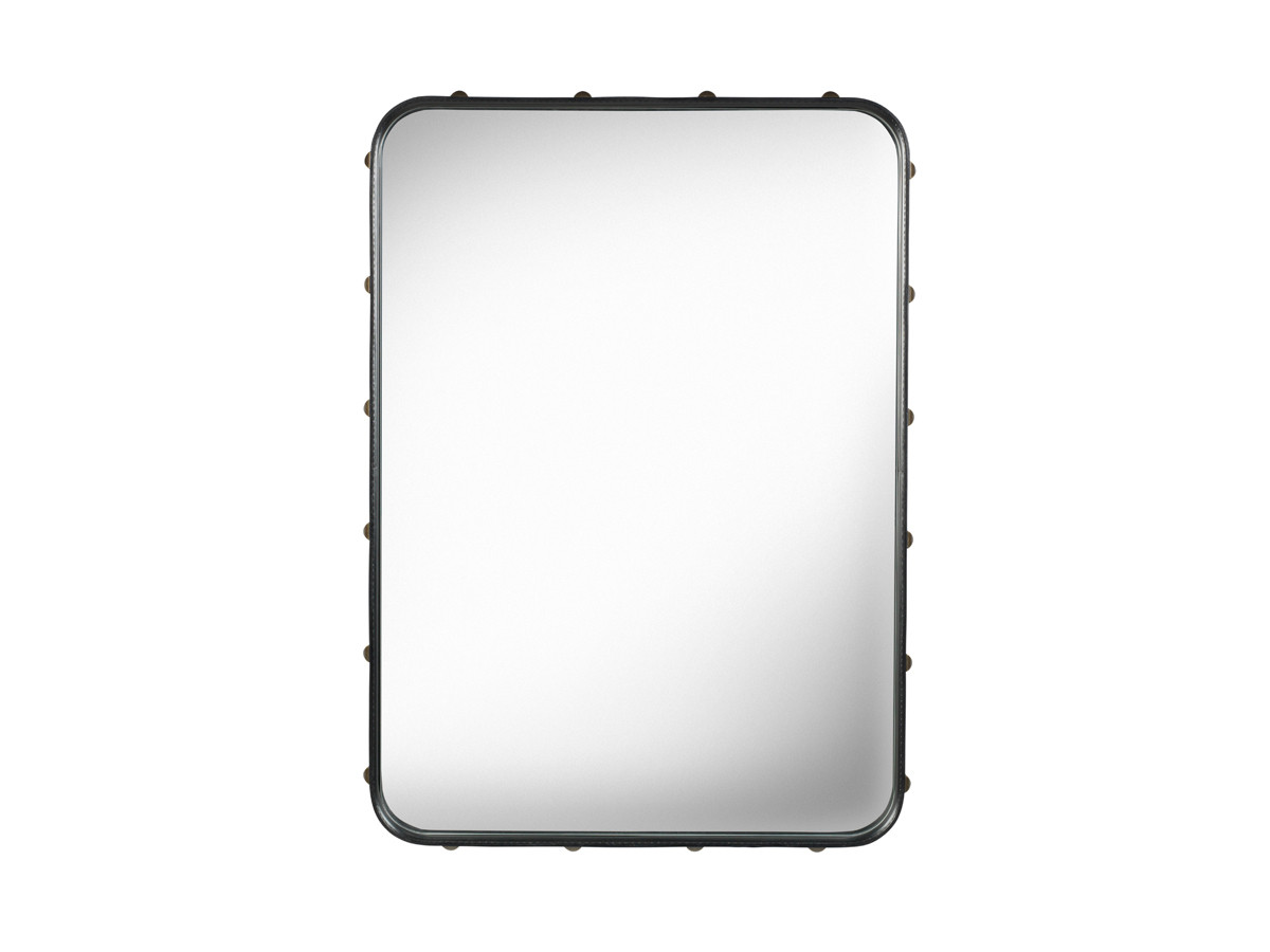 Buy the gubi adnet rectangulaire mirror black at for Mirror 50 x 30