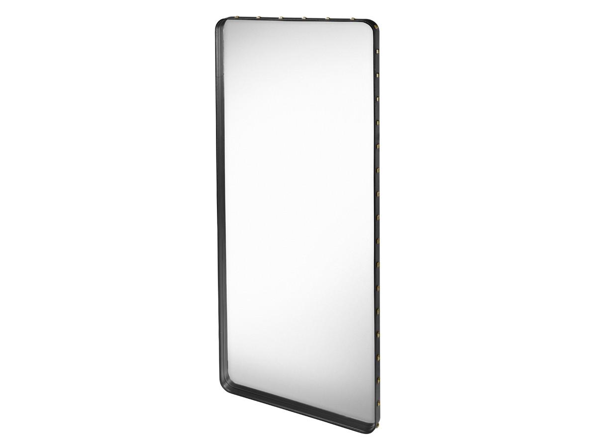 Buy the gubi adnet rectangulaire mirror black at for Miroir rectangulaire ikea