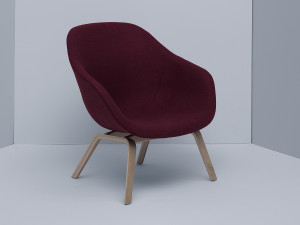 Hay About a Lounge Chair Low AAL83 - Veneered Oak Base