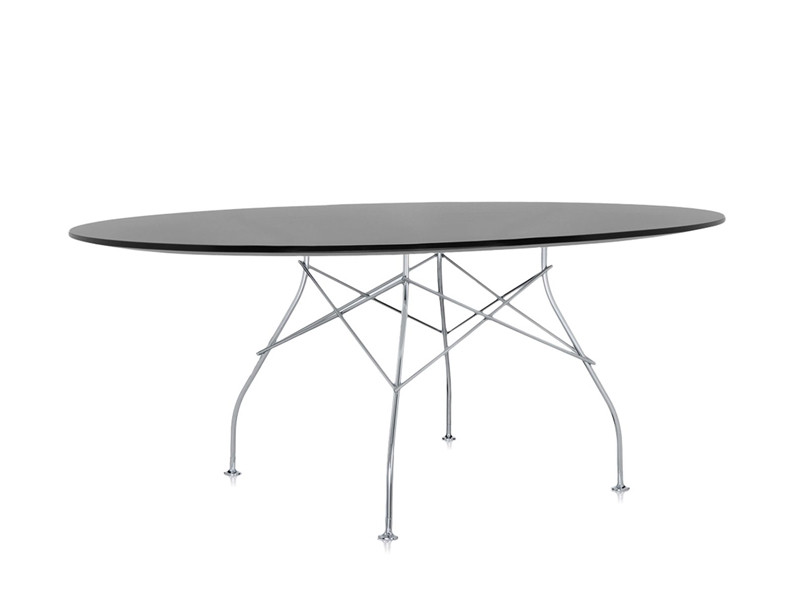 Buy The Kartell Glossy Oval Dining Table At Nest.Co.Uk