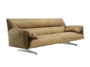 View Poltrona Frau Antohn Three Seater Sofa Tabacco