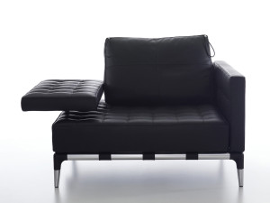 View Cassina 241 Privé Armchair Black Leather