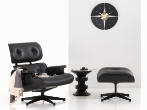 Vitra Eames Lounge Chair & Ottoman - All Black