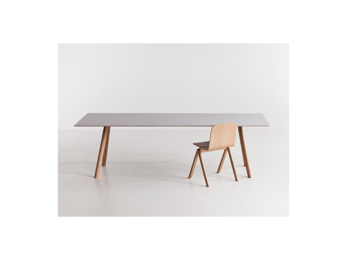 Buy the Hay Copenhague Table CPH30 with Slanted Legs at  : Hay Copenhague Table with ash grey top from www.nest.co.uk size 1200 x 900 jpeg 45kB