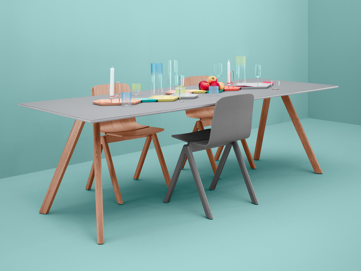 buy the hay copenhague table cph30 with slanted legs at. Black Bedroom Furniture Sets. Home Design Ideas