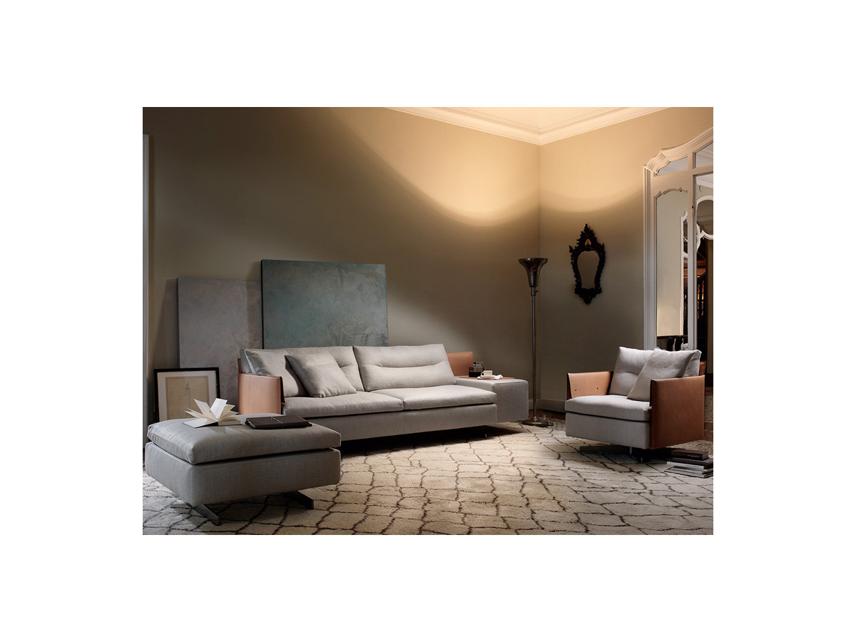 Buy the poltrona frau grantorino swivel armchair at for Poltrona torino