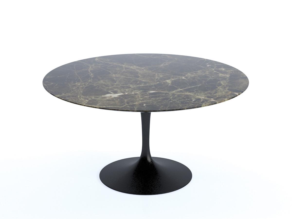 Buy The Knoll Saarinen Tulip Dining Table Cm Diameter At Nestcouk - Black marble tulip dining table