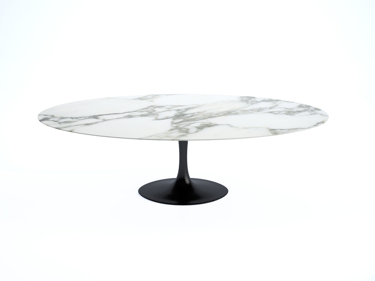 Buy The Knoll Saarinen Tulip Large Dining Table Oval At Nestcouk - Saarinen table base for sale