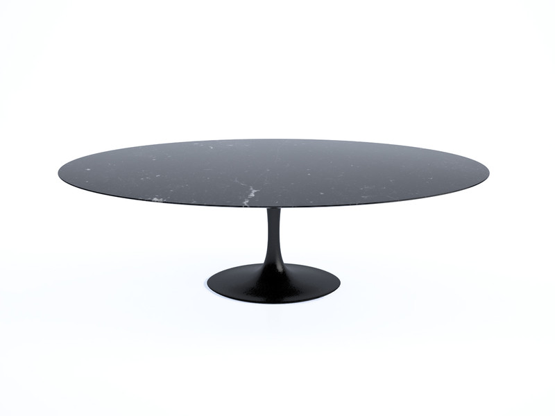 Buy The Knoll Saarinen Tulip Large Dining Table Oval At Nestcouk - Oval marble dining table
