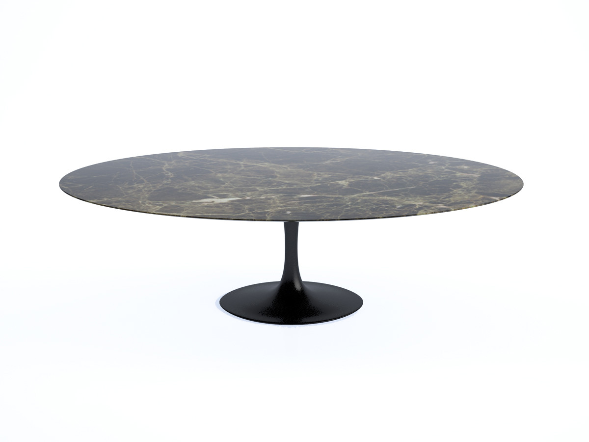 Beautiful saarinen oval table with table basse saarinen ovale - Table basse ovale blanche ...