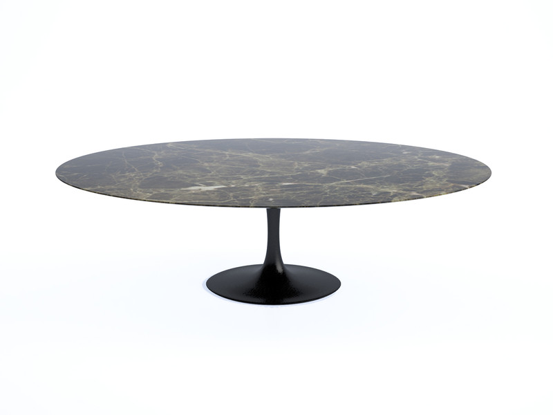 Buy the Knoll Saarinen Tulip Large Dining Table Oval at Nestcouk